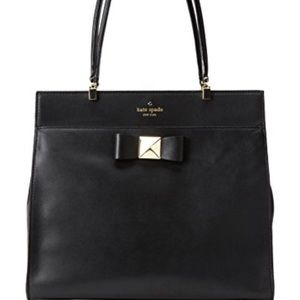 Bow Terrace Fulton Large Kate Spade Handbag Black